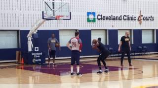 Tristan Thompson gets free-throw shooting help help from Kyle Korver