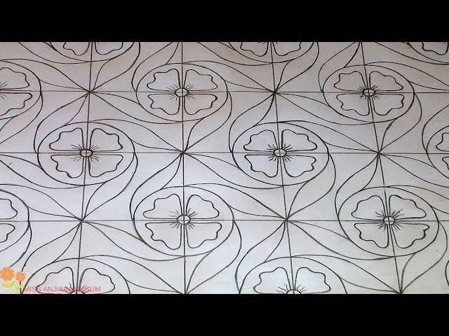 nakshi kantha drawing design-47, how to nokshi katha drawing, ???? ????? ??????, ?????? ??? ??????