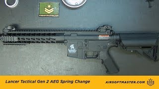 Lancer Tactical Gen 2 Quick Spring Change Tutorial Video