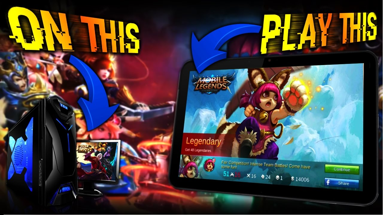 how to play mobile legends on pc mac youtube