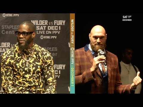 Tyson Fury's best press conference moments | Wilder v Fury world tour
