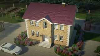 Британи проект загородного двух этажного дома