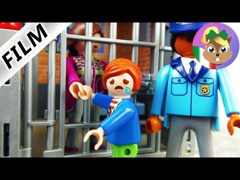 playmobil film italiano | maestra in prigione! dall'asilo alla polizia | famiglia Vogel
