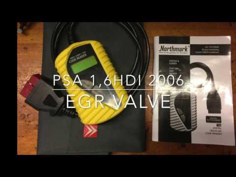 Citroen / Peugeot 1,6 HDI - EGR valve replace / removal