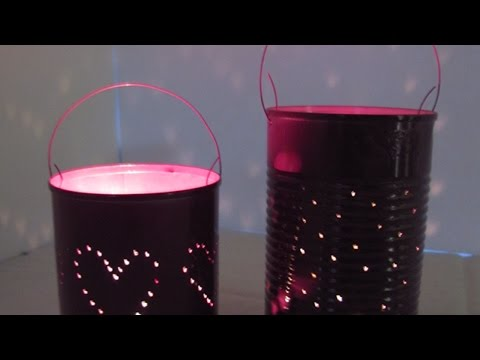 How To Make Pretty Tin Can Lanterns – DIY Home Tutorial – Guidecentral
