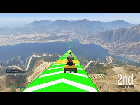 LAWNMOWER LAUNCHER! - GTA 5 Funny Moments #637