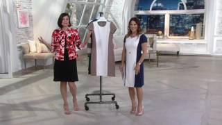 Liz Claiborne New York Textured Ponte Knit Dress on QVC