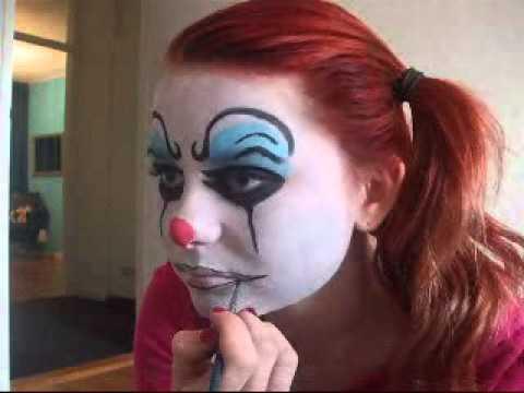 halloween schmink/grime tutorial, scary clown - youtube