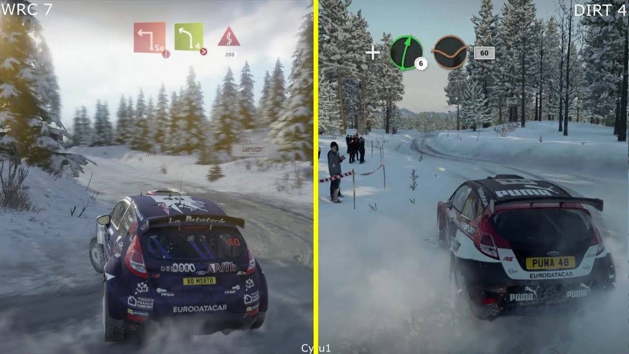 wrc 7 vs dirt 4 ps4 pro graphics comparison youtube. Black Bedroom Furniture Sets. Home Design Ideas