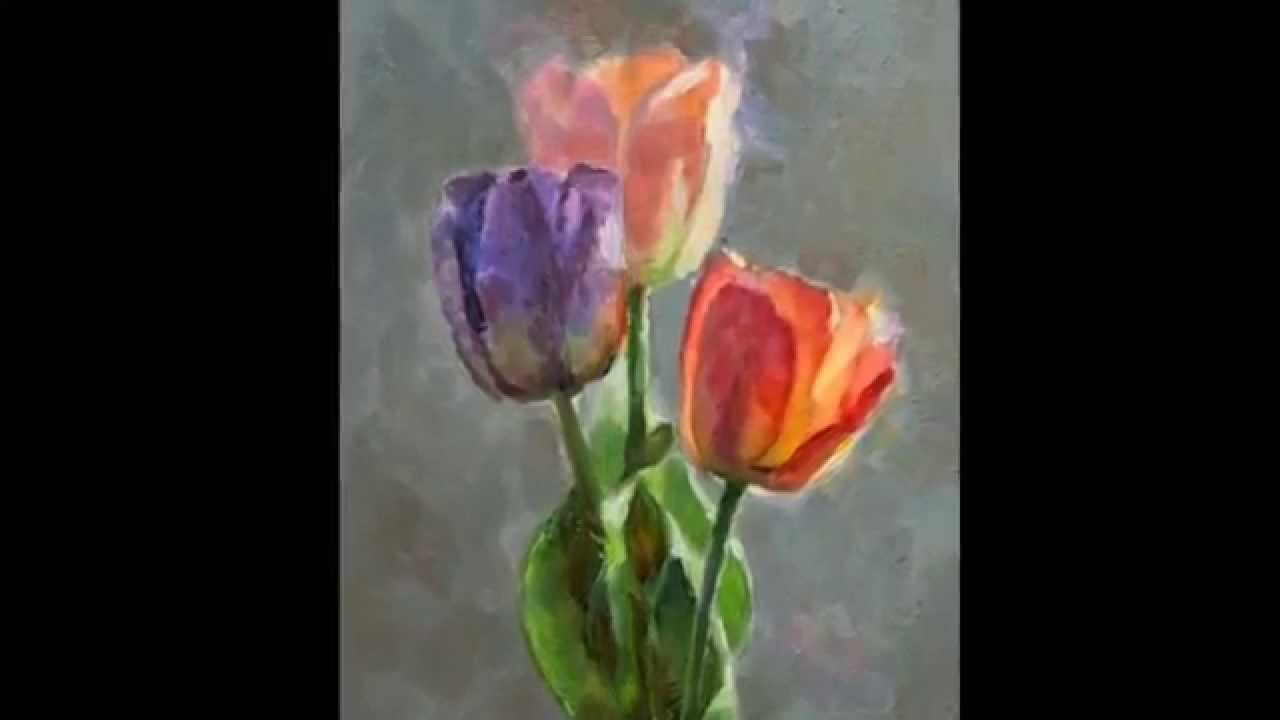 Cobalt And Tulips Still Life Oil Painting Step By Step