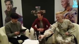 Benedict Cumberbatch and Tilda Swinton - Korean Doctor Strange interview part 1