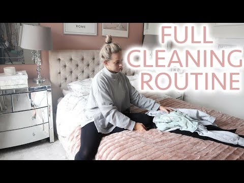 FULL CLEANING ROUTINE | MUM/MOM OF TWO | Lucy Jessica Carter