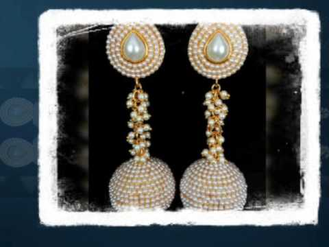 Top 10 Designs of Polki Earrings | wholesale Indian jewelry| visit http://www.impexfashions.com