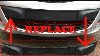 How to Replace NumberPlate Trim Moulding Corsa D Facelift| DIY