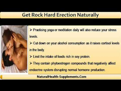 Get harder erections naturally