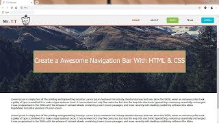Gambar cover How to Create a Awesome Navigation Bar with HTML & CSS। Mr.T.T