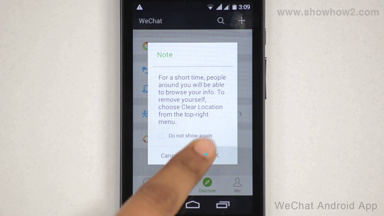 Wechat Android App How To Send A Greeting To A Person Nearby Youtube