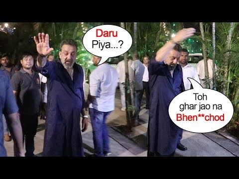 Sanjay Dutt's FUNNY Moments With Reporters At Diwali Party 2018
