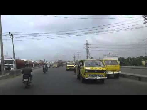 Crazy driving in Lagos Nigeria