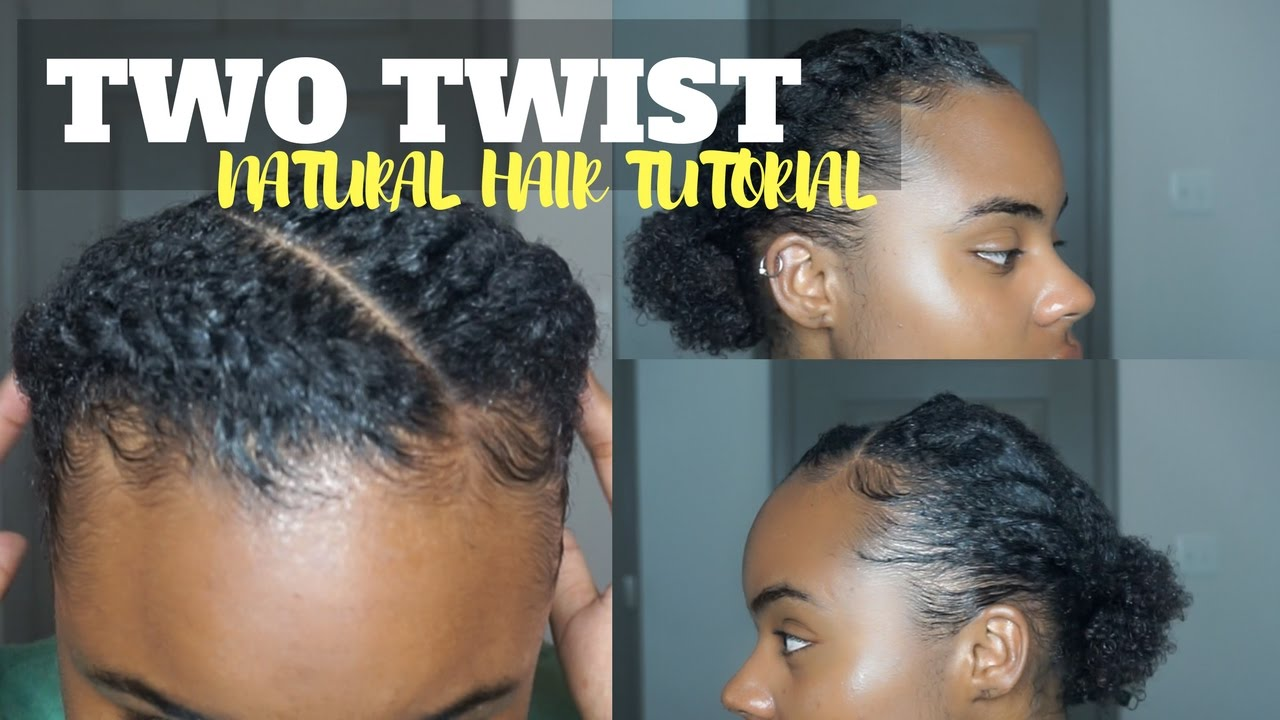 Two Flat Twist Into A Bun On Natural Hair Tutorial