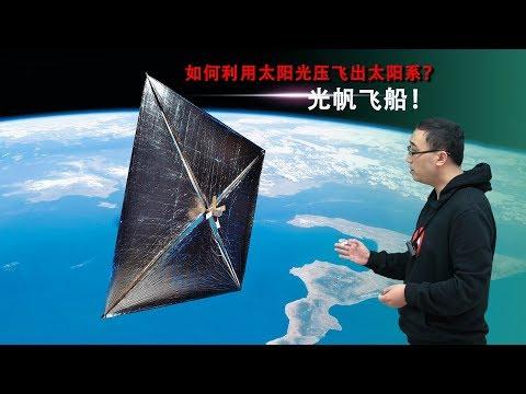 如何利用太阳光压飞出太阳系?李永乐老师10分钟讲光帆飞船!