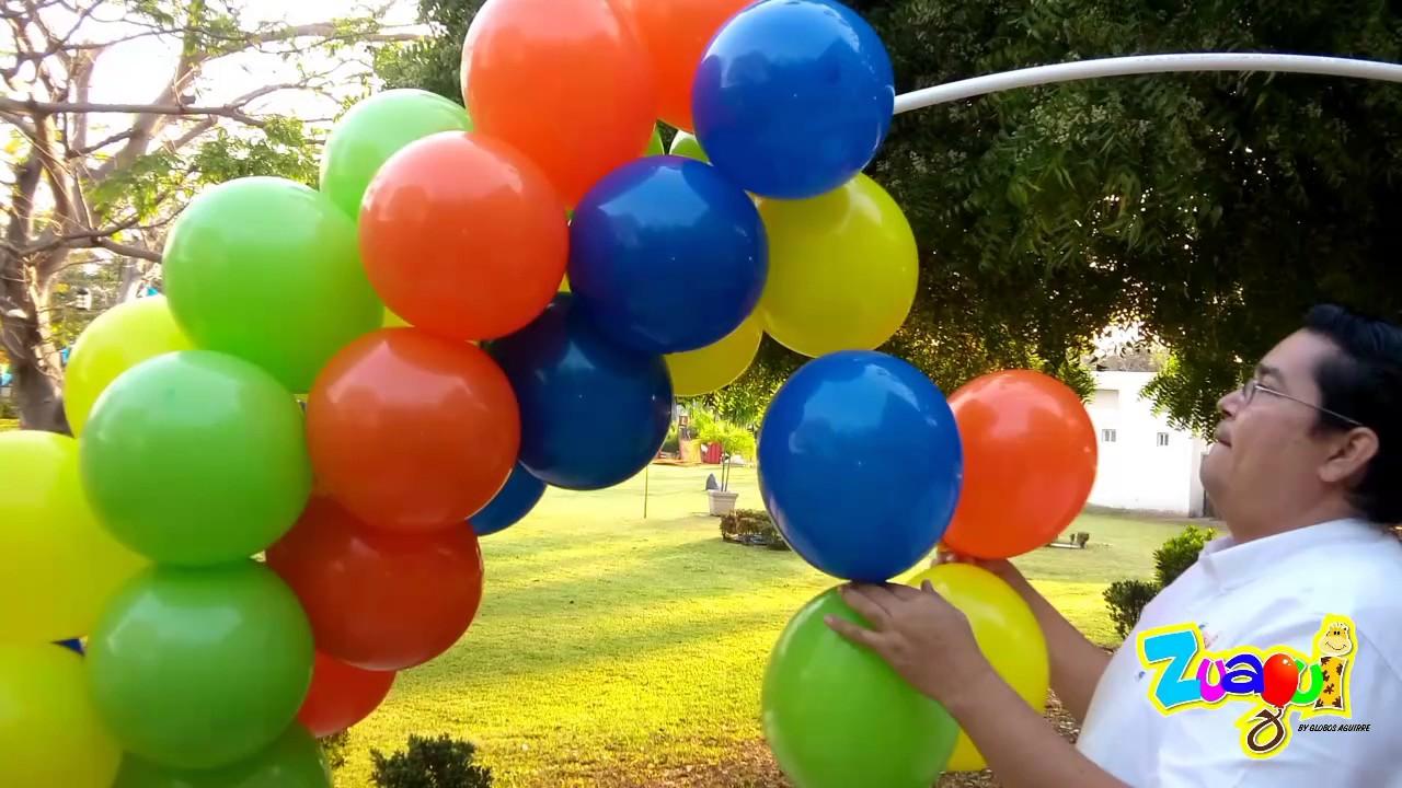 9473e6fa9 Arco de globos con tubo de PVC - YouTube