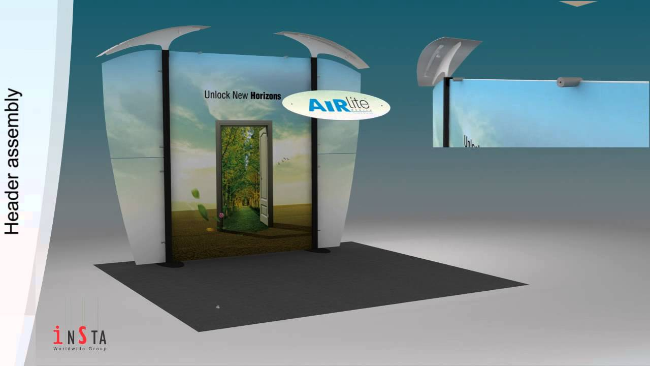 Portable Exhibition Display : Exhibition stall design using airlite™ portable display stand from