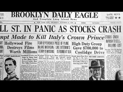 24th October 1929: Wall Street Crash begins on Black Thursday