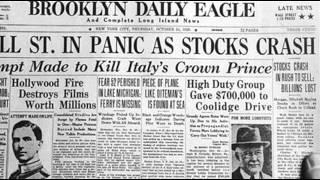 24th October 1929: Wall Street Crash begins on Black Thursday