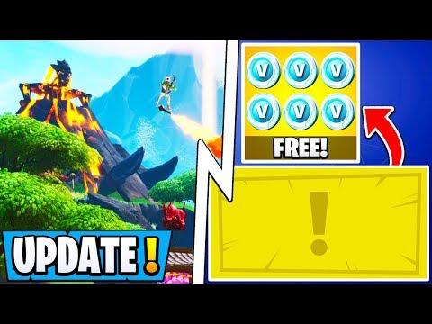 *NEW* Fortnite Update!   Easy 1000 Free Vbucks, New Map Teaser, John Wick!