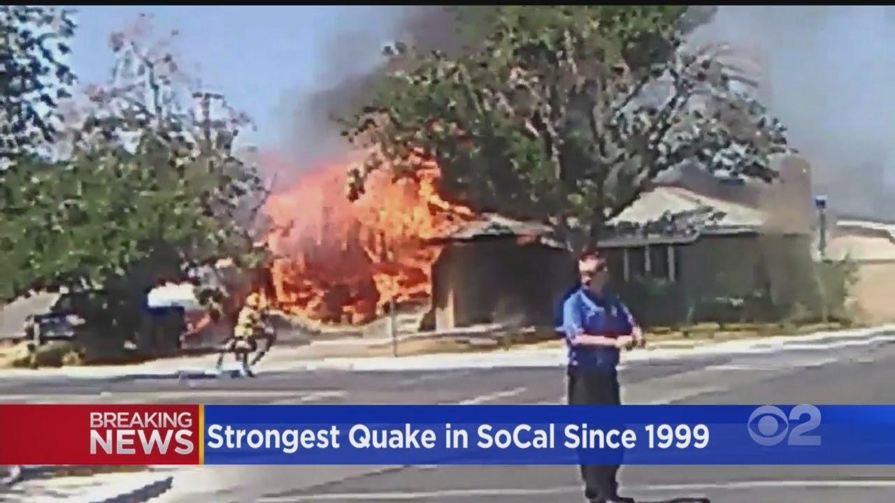 Earthquake Causes Fires, Broken Water Lines In San Bernardino Co
