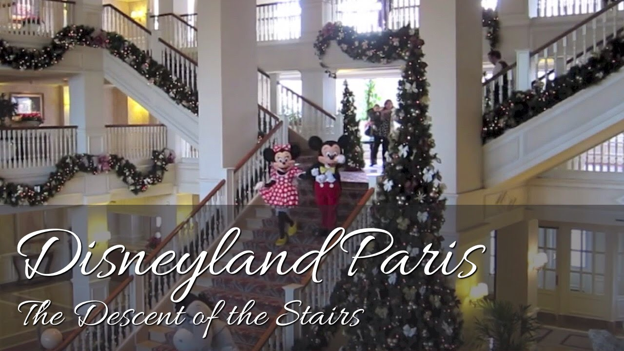Exceptional The Descent Of The Stairs / La Descente Des Marches | Disneyland Hotel |  Disneyland Paris