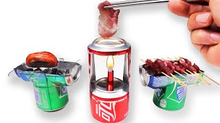how to make a mini grill cans
