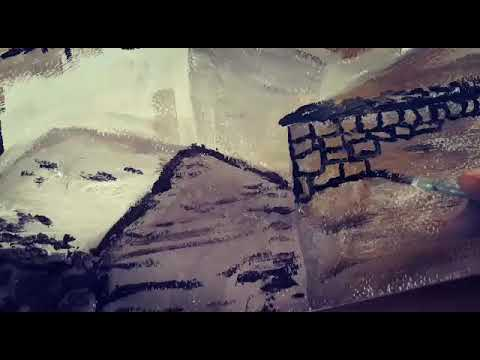 Painting of Ancient Ruin of BAALBEK (LEBANON)