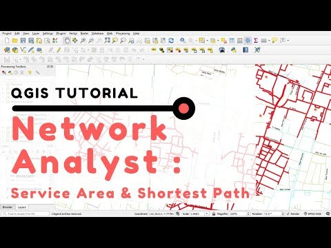 QGIS Tutorial: Network Analysis (Shortest Path/Route and Service