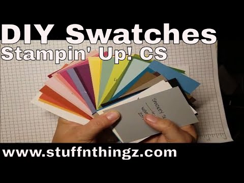DIY - Stampin' Up! Color Swatches Out Of SU Cardstock