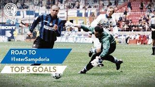 INTER vs SAMPDORIA | TOP 5 GOALS | Ronaldo, Ibrahimovic, Recoba and more...!