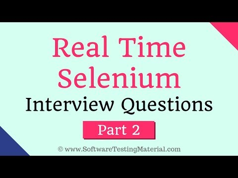 100+ Advanced Selenium Interview Questions (Updated 2019)