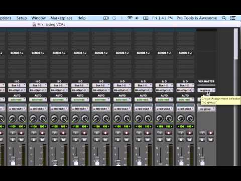 Pro Tools is Awesome Quick TIp: VCA Fader Basics Part 1