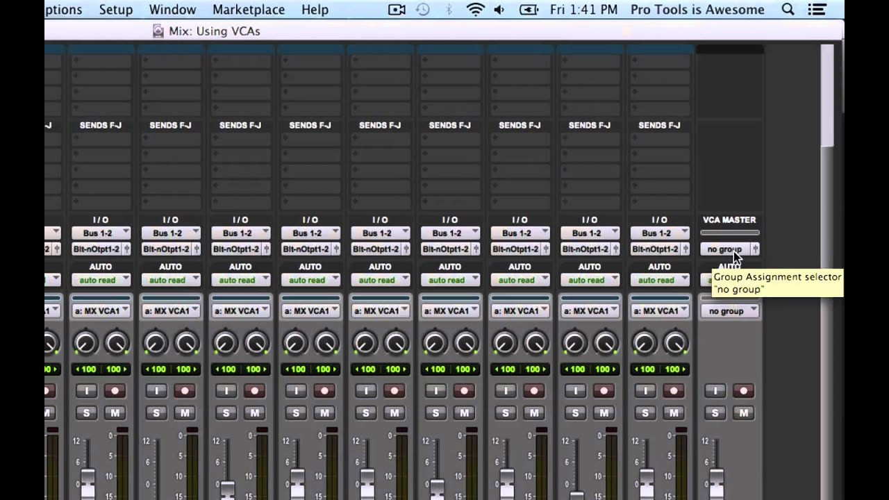 pro tools solo bus