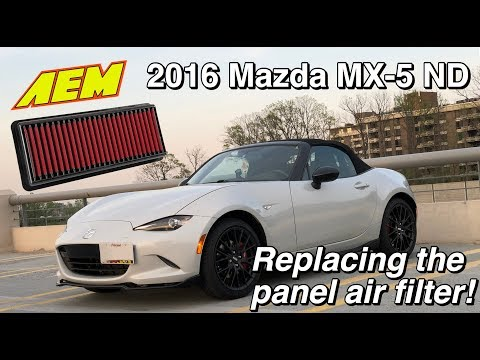 MX-5 Miata ND Drop-In Air Filter Replacement (AEM Dryflow Filter)