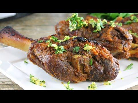 Slow Cooker Braised Lamb Shanks
