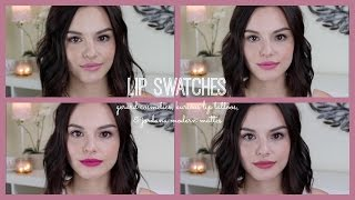 Lip Swatches | Gerard Cosmetics, Kurious Lip Tattoos, & Jordana Modern Mattes