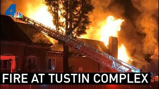Fast-Moving Tustin Apartment Fire Injures Two | NBCLA