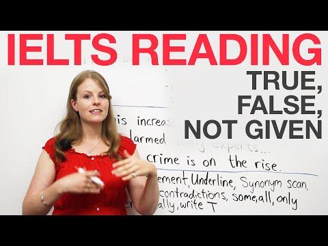 Chiến lược đọc IELTS: Đúng, Sai, Không được đưa ra