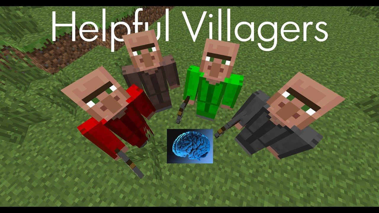Helpful villagers [1. 7. 10] / моды для майнкрафт / minecraft inside.
