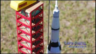 Model Rocket Launch featuring the SATURN V