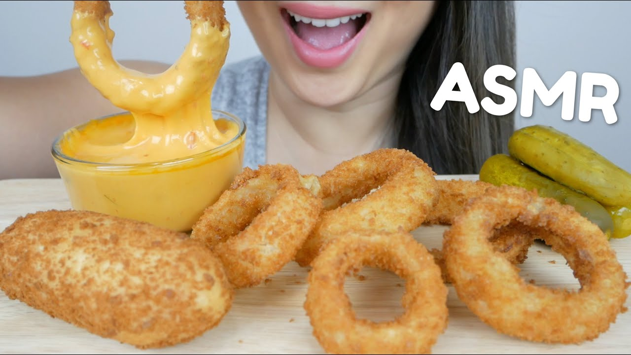 Asmr Deep Fried Onion Rings Korean Corn Dog With Cheese Sauce No Talking Eating Sound N E Asmr Youtube #onionrings #crunchy #suellasmr subscribe to my channel to join the suellies & click the bell to turn on post. asmr deep fried onion rings korean corn dog with cheese sauce no talking eating sound n e asmr