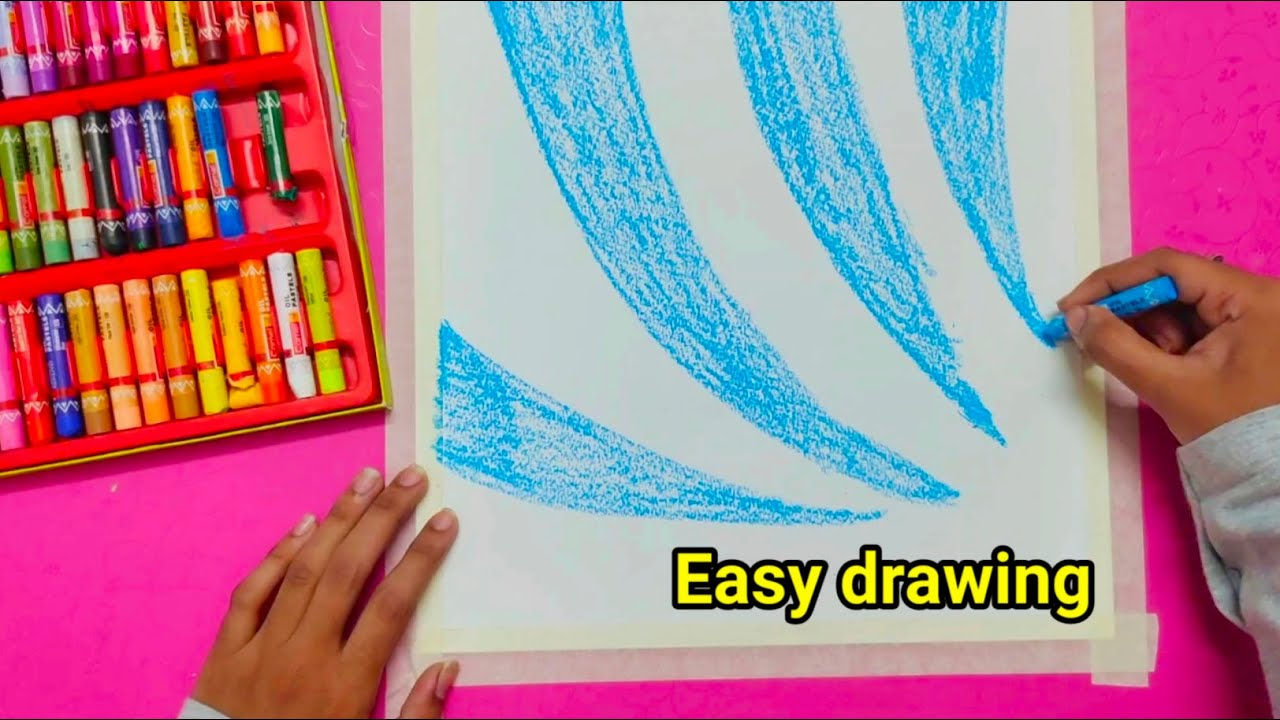 Easy Oil pastel drawing for beginners/இப்படி ஆர்ட் பண்ணுங்க நீங்களும் அழகா வரையலாம்/craft tamil