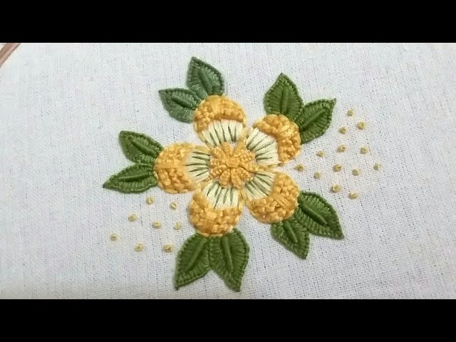 Flower pattern, hand embroidery,easy and beautiful